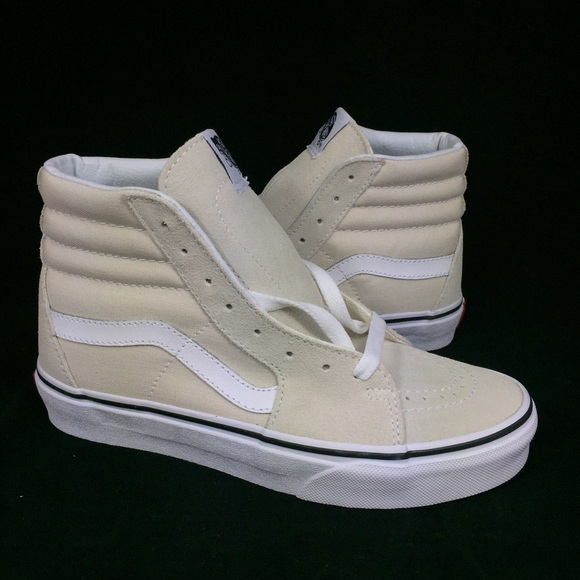 a89fc20c702 NEW Vans SK8 Hi Birch True White Shoes Sneaker 5.5